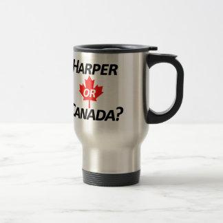 Harper or Canada? Merchandise Stainless Steel Travel Mug