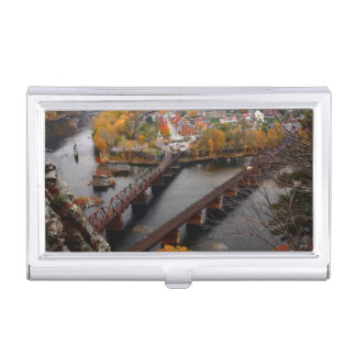 Harpers Ferry in the Fall Business Card Holder