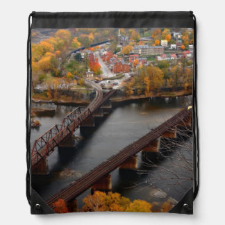 Harpers Ferry in the Fall Drawstring Bag