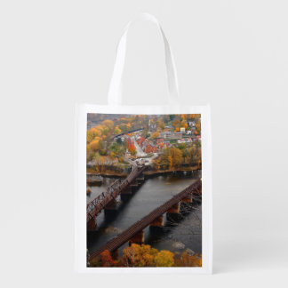 Harpers Ferry in the Fall Reusable Grocery Bag