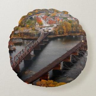 Harpers Ferry in the Fall Round Cushion