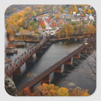 Harpers Ferry in the Fall Square Sticker