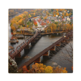 Harpers Ferry in the Fall Wood Coaster