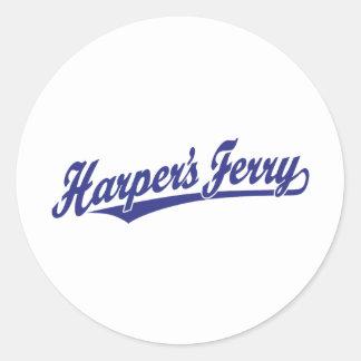 Harper's Ferry script logo in blue Sticker