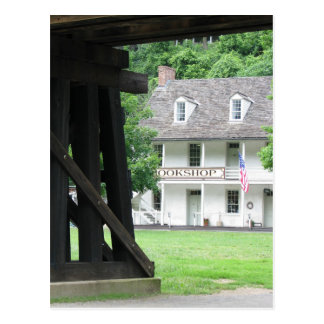 Harpers Ferry WV Bookstore & Railroad Postcard