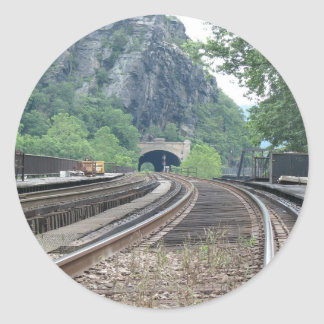 Harpers Ferry WV Railroad Tracks Stickers