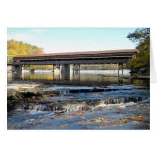 Harpersfield Covered Bridge Ashtabula County Ohio Card