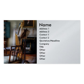 Harpist - The concert will begin soon Business Card Template