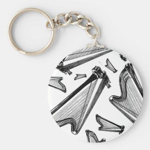 Harps Key Chains