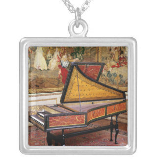Harpsichord, 1634 silver plated necklace