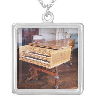 Harpsichord, by Jacob Kirckman, English, 1766 Silver Plated Necklace