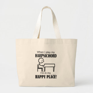 Harpsichord Happy Place Large Tote Bag