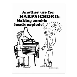 Harpsichord Zombie Explode Postcards