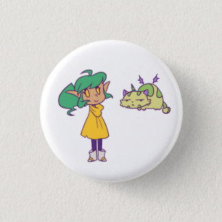 Harpy and Pumpkin 3 Cm Round Badge