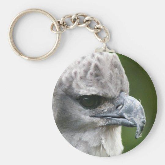 Harpy Eagle Basic Round Button Key Ring