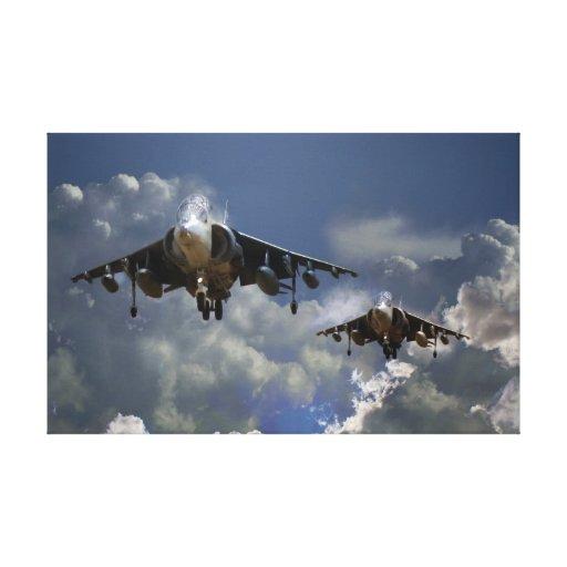 Harrier Approach Canvas Print
