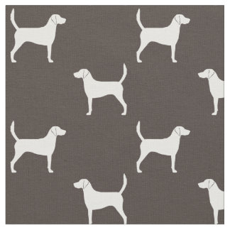 Harrier Dog Silhouettes Pattern Fabric