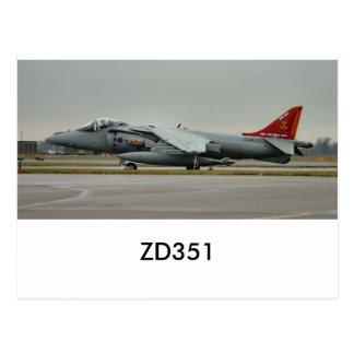 Harrier GR9 ZD351 Post Cards