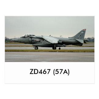 Harrier GR9 ZD467 (57A) Postcard