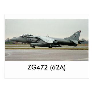 Harrier GR9 ZG472 (62A) Postcard