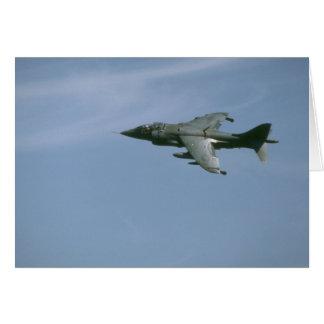 Harrier In Flight Card