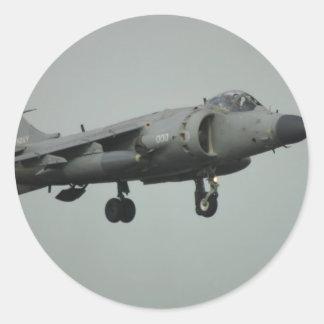 Harrier Round Sticker