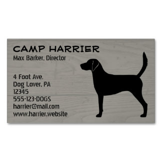 Harrier Silhouette Magnetic Business Cards