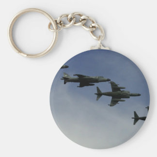 Harriers Basic Round Button Key Ring
