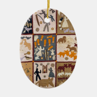 Harriet Powers - Pictoral Quilt 1898 Christmas Ornament