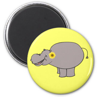 Harriet the Cartoon Hippo Magnet
