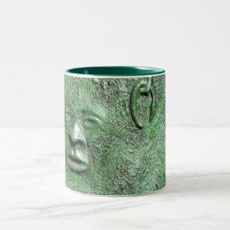 Harriet Tubman Abstract Green Ceramic Mug