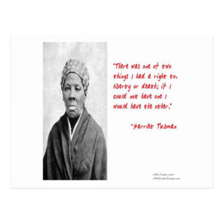 """Harriet Tubman """"Liberty Or Death"""" Quote Gifts Postcard"""