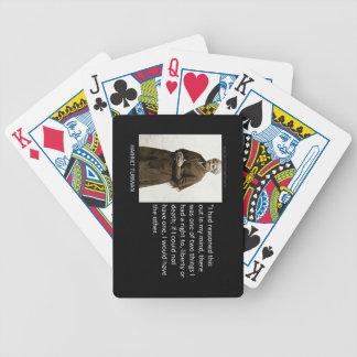 Harriet Tubman Quote Bicycle Poker Deck