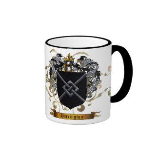 Harrington Coat of Arms Ringer Coffee Mug