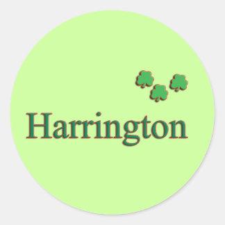 Harrington Family Round Sticker