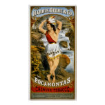 Harris, Beebe & Co. Pocahontas Chewing Tobacco Poster