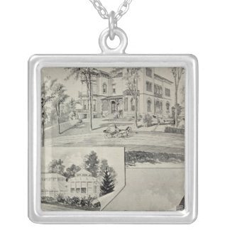 Harris Bldg, New London, Conn Silver Plated Necklace