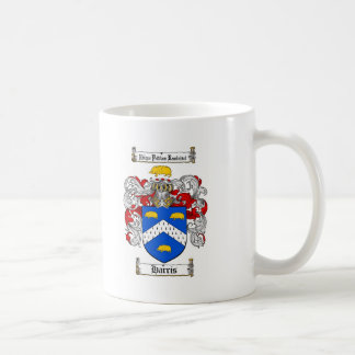 HARRIS FAMILY CREST -  HARRIS COAT OF ARMS BASIC WHITE MUG