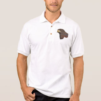 Harris Hawk Faux Embroidery Polo Shirt