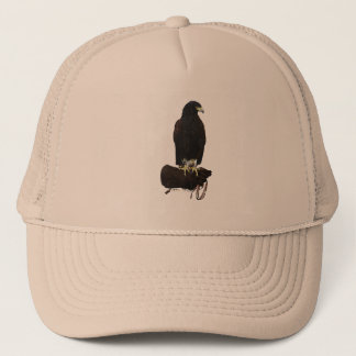 Harris Hawk on Glove Trucker Hat