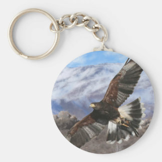 Harris Hawk- pastel Key Ring