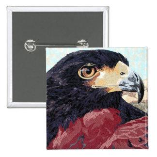 Harris Hawk textile 15 Cm Square Badge