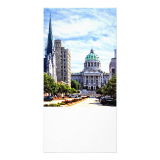 Harrisburg PA - Capitol Seen from State Street Customised Photo Card