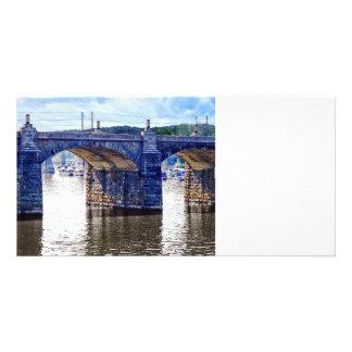 Harrisburg PA - Market Street Bridge Customized Photo Card