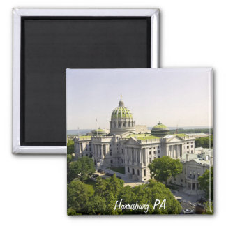 Harrisburg PA Square Magnet