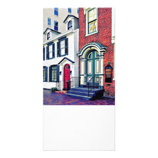 Harrisburg PA - Street With American Flag Photo Cards