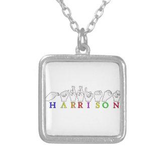 HARRISON ASL SIGN FINGERSPELLED NAME PERSONALIZED NECKLACE