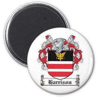 Harrison Family Crest 6 Cm Round Magnet