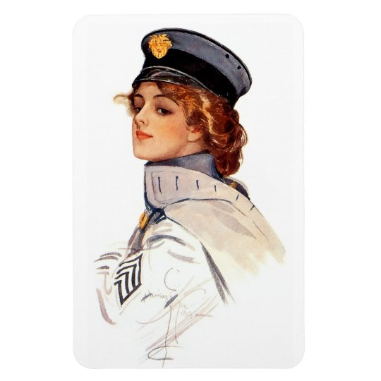 Harrison Fisher: Maid at Arms Rectangular Photo Magnet