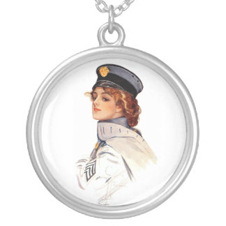 Harrison Fisher: Maid at Arms Round Pendant Necklace